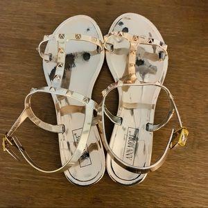 Rose Gold sandal size 9